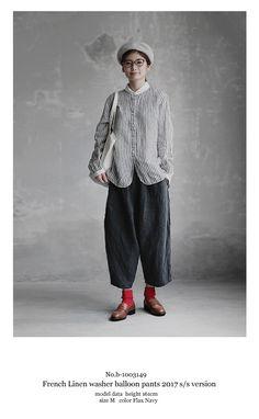 【送料無料】Joie de Vivreフレンチリネンワッシャー バルーンパンツ Minimal Fashion, Love Fashion, Fashion Models, Girl Fashion, Fashion Outfits, Womens Fashion, Japanese Outfits, Japanese Fashion, European Fashion