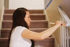 How to paint stair railings - good pointers included in comments, too.