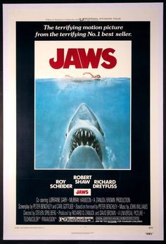 JAWS Movie Poster (1975) || HORROR Movie Posters   @ FilmPosters.Com - Vintage Movie Posters and More