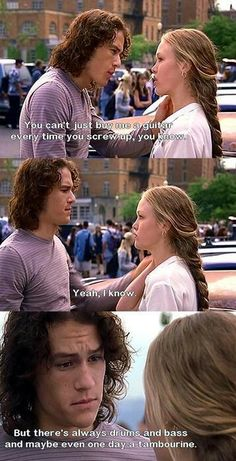 Julia Stiles and Heath Ledger 10 Things I Hate About You