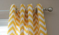 Custom Yellow Zig Zag curtains from Etsy, $155