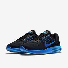 Nike Lunarglide 8 Mens Running Shoes 10.5 Black Deep Royal Blue 843725 004 #Nike #RunningCrossTraining