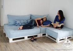 Como fazer um sofá de pallets - Dicas e passo a passo com fotos para fazer Sofá de palete - marcenaria simples - Tutorial with pictures - H...