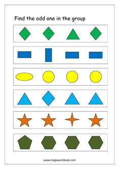 Free Printable Odd One Out Worksheets - Logical Thinking & Aptitude Worksheets For Kindergarten/Preschool Preschool Phonics, Preschool Workbooks, Printable Preschool Worksheets, Phonics Worksheets, Kindergarten Worksheets, Free Printable, Worksheets For Playgroup, Speech Therapy Worksheets, Preschool Learning Activities