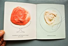30 ice creams funnny up Food Graphic Design, Menu Design, Graphic Design Typography, Graphic Design Illustration, Graphic Design Inspiration, Design Art, Cookbook Design, Leaflet Design, Magazine Layout Design