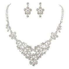Ever Faith elegant Blume Halskette mit Ohrring Anhänger Schmuck-Set klar Silber-Ton österreichischen Kristal N03468-5 Ever Faith http://www.amazon.de/dp/B00OZKNG6G/ref=cm_sw_r_pi_dp_KJXVvb1RQNTAK