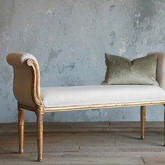Elegant! Eloquence Mademoiselle Bench Gold Gilt from @LaylaGrayce #laylagrayce #vintage #bench #european