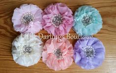 *NEW* spring items!! # organza #flowers with #rhinestone accents perfect for #headbands!  Colors: light pink, rose, mint, ivory, peach, lilac $7.99 shipped. COMMENT with email and color to order. FAST SHIPPING!  #ldb #ldb2015 #saratogadarlings #accessories #kidsfashion #headband #handmade #wahm #boutique #photoprop #infant #baby #gift #girls #spring  www.facebook.com/saratogadarlings