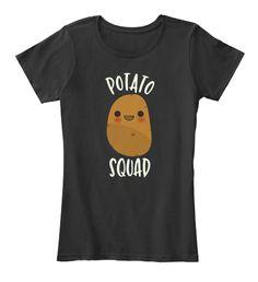 Cute Potato Squad T Shirt I Love Potatoe Black Women's T-Shirt Front