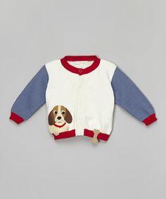 Love this Off-White Puppy & Bone Cardigan - Infant, Toddler & Boys on #zulily! #zulilyfinds