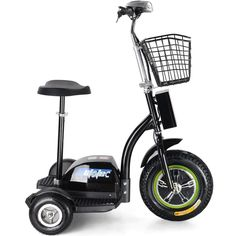 - Description - Features - Action Videos Quantity In Stock: The MotoTec Electric Powered Trike aka Personal Transporter is a three wheel electric scooter that you can ride while sitting or standing, t