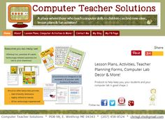 COMPUTER TEACHERS! It's a New Year! Need some new ideas? Look here for  lesson plans, activities, teacher planning forms, computer lab decor and more!