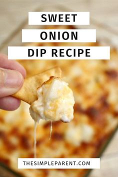 Sweet onion plus all the cheese makes for the best onion dip ever! If you love cheese and the savory flavors, you'll love this one! Easy to make and perfect for any occasion! Best Appetizers Ever, Best Appetizer Recipes, Dip Recipes, Snack Recipes, Easy Recipes, Chicken Recipes, Onion Dip, Dessert Dips, Game Day Food