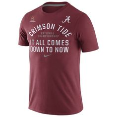 b7022d2f5a8b Alabama Crimson Tide Nike 2016 College Football Playoff National  Championship Game Bound Now T-Shirt - Crimson