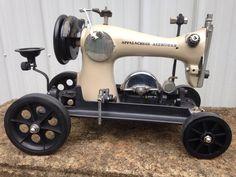 Pfaff, Antique Sewing Machines, Scrap Metal Art, Pedal Cars, Repurposed, Bicycle, Antiques, Cardboard Storage, Tractors