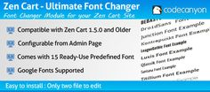 Buy Zen Cart - Ultimate Font Changer by PixelGue on CodeCanyon. - Are you Bored with your old font? - Want to make your Zen Cart themes better? With this module you can do all of th. Font Changer, Old Fonts, Google Fonts, Drupal, Wordpress Plugins, Zen, Cart, Make It Yourself, Covered Wagon