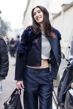 Street style from Milan fashion week autumn/winter '15/'16 - Vogue Australia