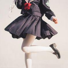 sailorfuku-miokui sailorfuku-miokui Source by yxmczk. Human Poses Reference, Pose Reference Photo, Japonese Girl, Mode Lolita, Himiko Toga, Poses References, Kawaii Clothes, Female Poses, Lolita Fashion
