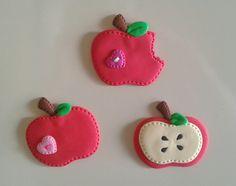 Manzanas magnéticas para decorar la nevera, elaborados con foamy.