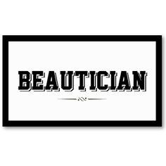 Modern Black Border Beautician Business Card