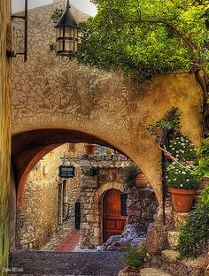 In the streets of Eze, France