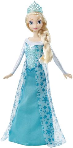 Let your child reenact all the favorite scenes from Frozen with this beautiful Elsa doll!