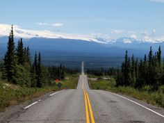 Road to the mountines, Alaska.