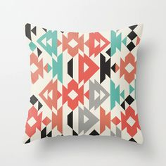 Love this pattern and colors!!     Kaleidoscope Pillow Cover