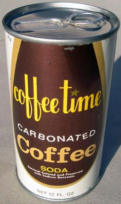 Coffee Time Soda Can, 1960's.