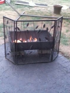 Repurposed lid to our old grill.