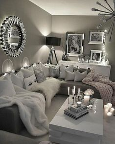 ⭐️ affordable apartment living room design ideas on a budget 52 – Wohnzimmer Ideen Comfortable Living Rooms, Cozy Living Rooms, Living Room Grey, Living Room Interior, Living Room Furniture, Living Room Decor, Modern Furniture, Apartment Interior, Rustic Furniture