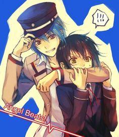 Two of my fav Angel Beats boys! -Hinita and Naoi-
