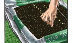 don't let soil flaws stop you from starting a food garden. Instead, use this quick and simple bag gardening technique- especially with this clay soil. Planting Plan, Planting Seeds, Organic Gardening, Gardening Tips, Horticulture, Potager Bio, Pot Jardin, Top Soil, Simple Bags