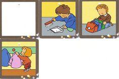 prenten voor takenbord Petite Section, Spanish Activities, Everyday Activities, Speech And Language, Preschool, Comics, Cool Stuff, Illustration, Kids