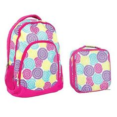Reinforced Water Resistant School Backpack and Insulated Lunch Bag Set