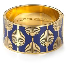 "kate spade new york ""The Way the Wind Blows"" Idiom Hinged Bangle ($148) ❤ liked on Polyvore"