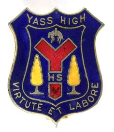 Yass High School Enamel Badge