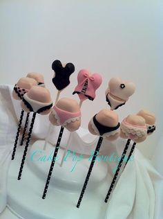 The perfect cakepops for a lingerie shower... from Cake Pop Boutique