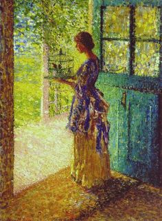 ⍕ Paintings of People & Pets ⍕ Helen M. Turner | The Birdcage, 1916