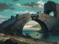 Tales from Earthsea is a 2006 Japanese animated fantasy film directed by Gorō Miyazaki and produced by Studio Ghibli. The film is based on a combination Hayao Miyazaki, Tales From Earthsea, Beautiful Ruins, Castle Background, Landscape Concept, Landscape Art, Fantasy Films, Fantasy Art, Ghibli Movies
