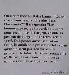 Citation Dalai Lama, Quote Citation, French Words, French Quotes, Words Quotes, Life Quotes, Sayings, Deep Sentences, Favorite Quotes