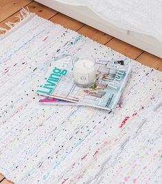 Pastel mix Swedish rag rug by Skandihome on Etsy