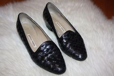 Bottega Veneta black leather loafers
