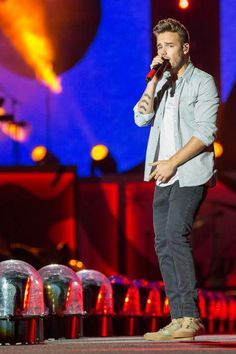 Liam on stage in Milwaukee, Wisconsin