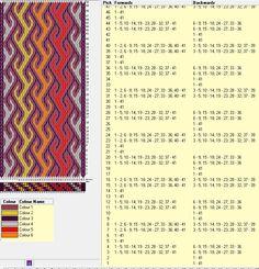41 tarjetas, 6 colores, repite cada 8 movimientos // sed_154a diseñado en GTT༺❁