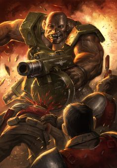 Imperial Guard Ogryn. The Attack by ameeeeba.deviantart.com on @deviantART