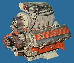 Ford 427 SOHC Cammer - Ford tried to take on the 'Hemi' with lucrative deals with the top drag racers at the time, but the Hemi won out in the end. Performance Engines, Performance Cars, Ford Racing Engines, Crate Engines, Classic Motors, Drag Cars, Car Engine, Ford Trucks, Courses