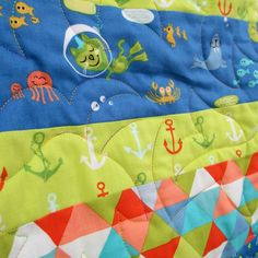 moda fabric collections by timbeckBartholo-meow's Reef   Mr Bartholo-meow goes scuba diving in the Bartholo-meow's Reef quilt