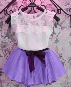 Children Clothes Shirts Dresses For Girls Kids T-Shirt Skirt Lace Shirt Dresses Bow Chiffon Dresses Korean Clothes Dresses Online with $9.43on U_luck's Store | DHgate.com#dhgatepin