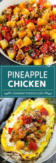 This pineapple chicken is a stir fry of chicken, pineapple and vegetables all tossed in a sweet and savory sauce. Serve this Chinese style pineapple chicken over rice for an easy dinner that everyone will love! Pineapple Chicken Stir Fry, Pineapple Chicken Recipes, Pineapple Dinner Recipes, Chicken Stir Fry Sauce, Healthy Chicken Stir Fry, Hawaiian Recipes, Stir Fry With Chicken, Hoisin Sauce Stir Fry, Crockpot Hawaiian Chicken